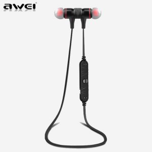 AWEI A920BL Black Smart Wireless Bluetooth Earphone - Sport Stereo