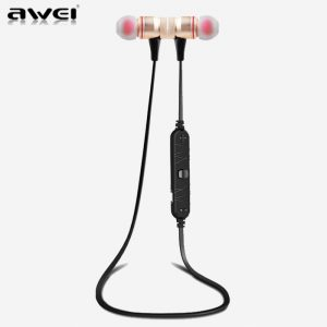 AWEI A920BL Gold Smart Wireless Bluetooth Earphone - Sport Stereo
