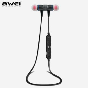 AWEI A920BL Grey Smart Wireless Bluetooth Earphone - Sport Stereo