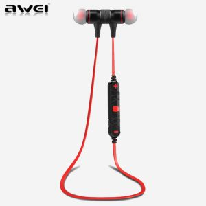 AWEI A920BL Red Smart Wireless Bluetooth Earphone - Sport Stereo